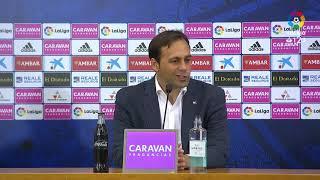 Rueda de prensa de Fran Fernández tras el Real Zaragoza vs UD Almería (1-2)