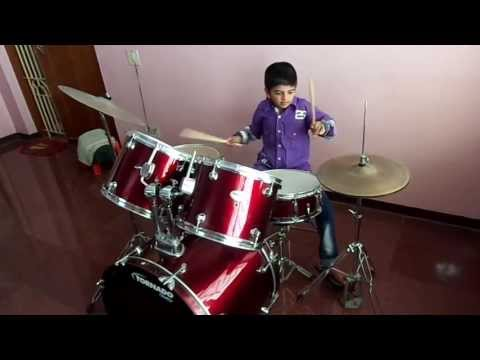 YOUNGEST INDIAN DRUMMER 7 YEARS OLD KID-DRUMS SARVESH