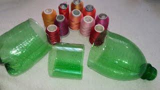 Plastik şişeyle birde fıstık oyası yapalım yıllarca kullan ütüleme-tığ oyası