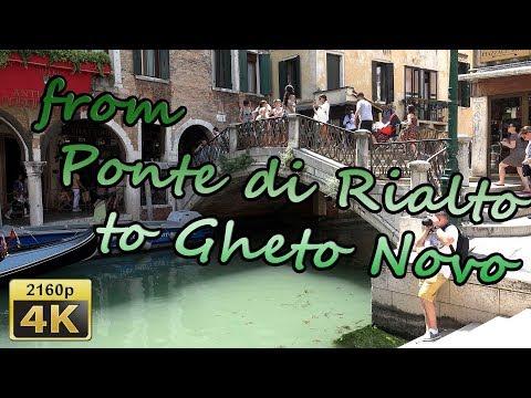 Venice, from Ponte di Rialto to Gheto Novo - Italy 4K Travel Channel