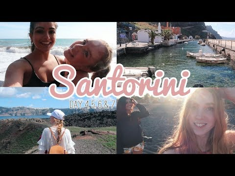 SANTORINI VLOG 2 | Hot Springs, Waffles, and Volcanoes