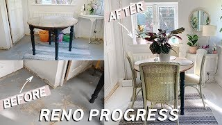 Laundry / Breakfast Nook Transformation & Office Painting Mini Makeover | DIYary