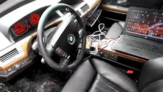 BMW E65 обновление и русификация монитора MMI и приборки KOMBI без паяльника и программатора