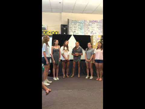 """Saxe Middle School Open Mic a capella """"Rather Be"""""""