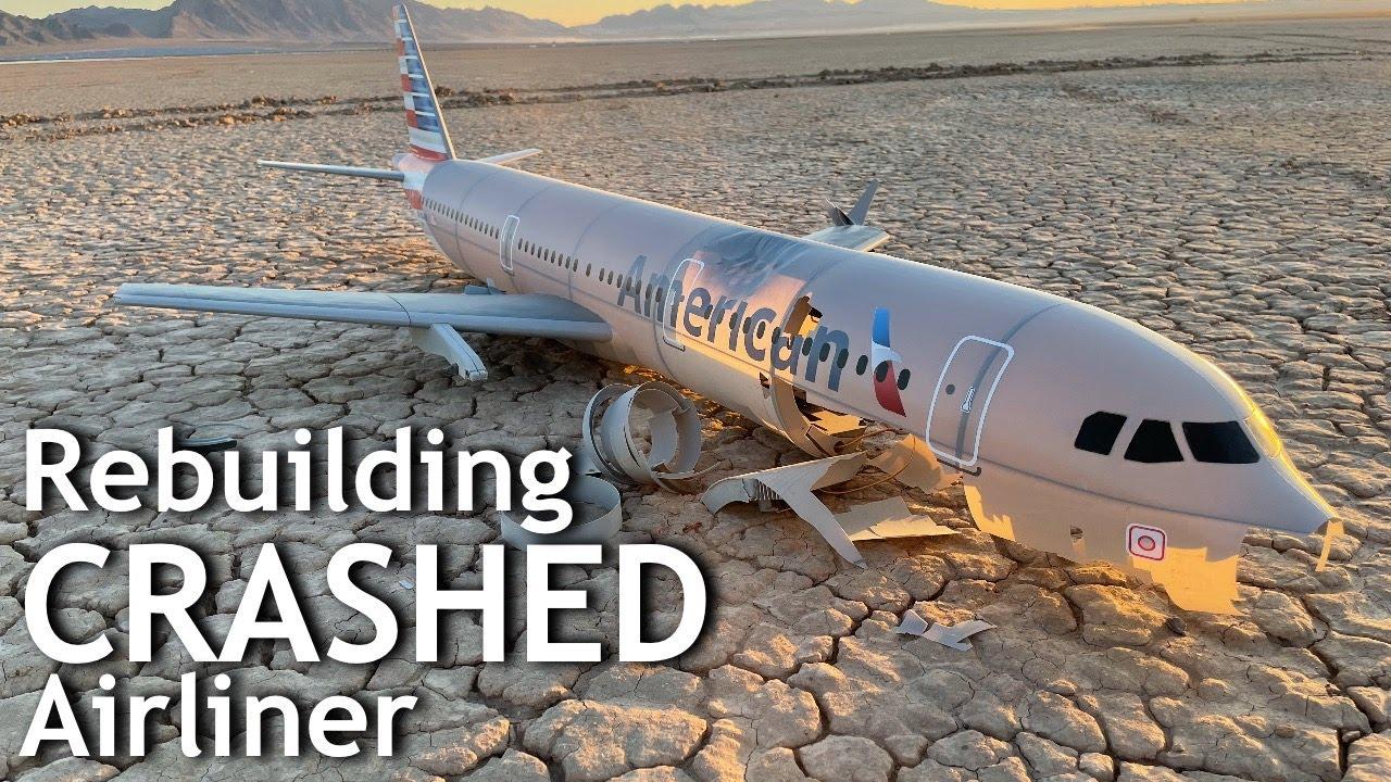 Can I FIX this 3D Printed Airliner after BIG CRASH