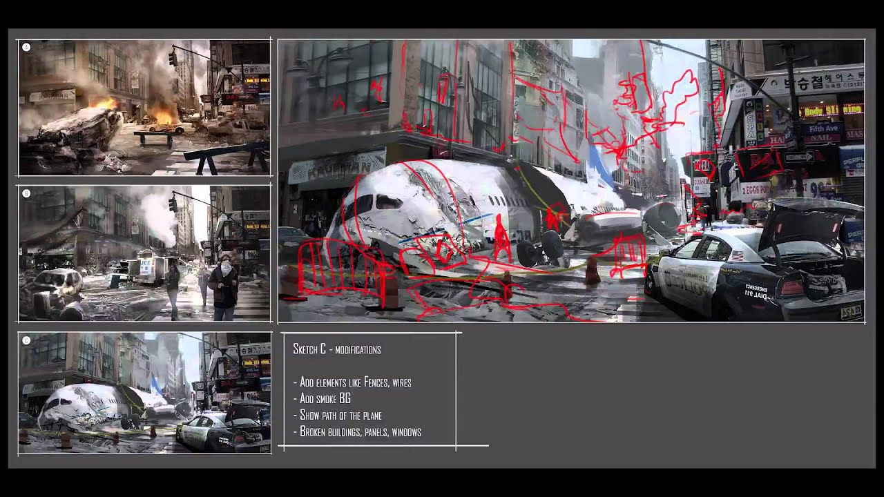TUTORIAL : Concept Art photorealistic for a AAA video game with Photoshop