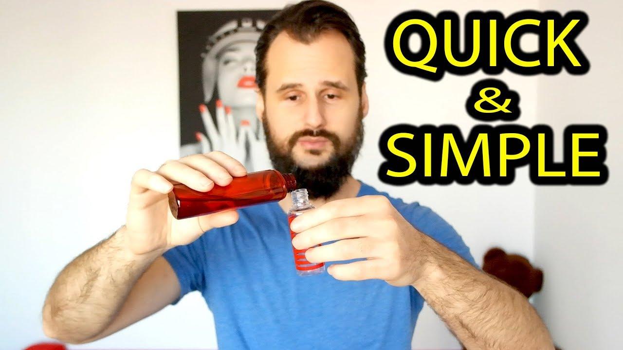 Quick Homemade Beard Oil Recipe / 2 Ingredients