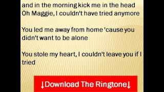 Rod Stewart - Maggie May  Lyrics
