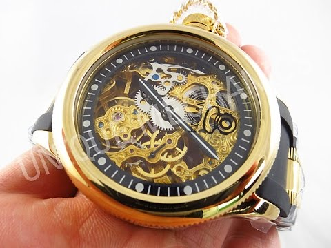 invicta watch 1844 russian diver mechanical skeleton gold tone invicta watch 1844 russian diver mechanical skeleton gold tone