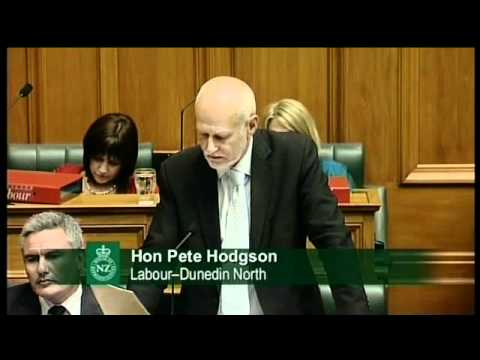 Question 4: Hon Pete Hodgson to the Prime Minister
