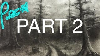 How To Draw A Forest Using Charcoal - Part 2 - More Trees!