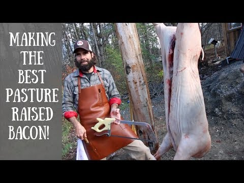 How to Cut a Pig in Half so You Don't Destroy the Pork Loin! With Hand Hewn Farm