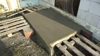 Как сделать бетонные дорожки и порог самостоятельно Как замешать бетон вручную одному Часть 2 из 4