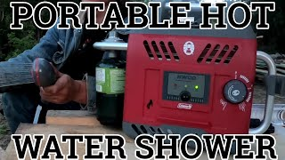 Portable Instant Hot Water Shower Test and Review  (Coleman Hot Water On Demand)