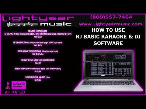 HOW TO USE | KJ BASIC | KARAOKE SOFTWARE | DJ SOFTWARE | LAPTOP KARAOKE | LIGHTYEARMUSIC ✅ PRO AUDIO