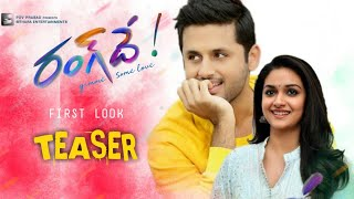 Rang De First Look Teaser || Nithin Rangde Movie Teaser || Rang de Teaser || Nithin19 Movie Teaser