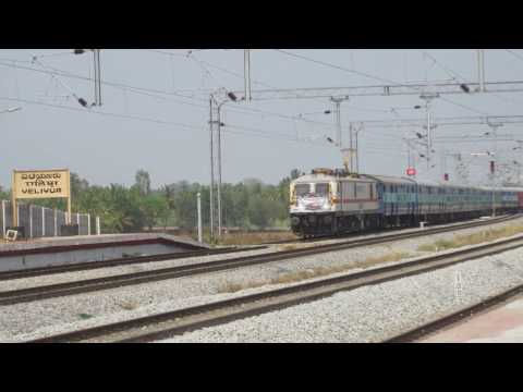 WAP7 in Bangalore Mysore railway line !