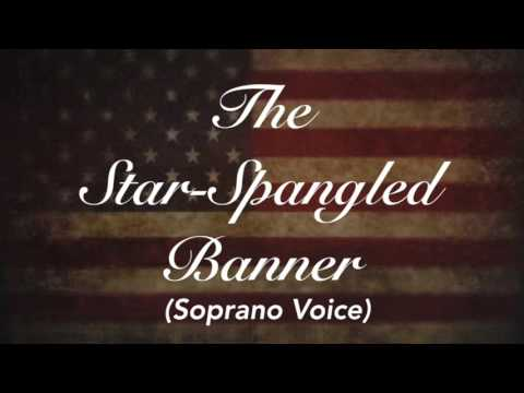 The National Anthem (USA) - Star Spangled Banner Piano Track | Soprano Voice