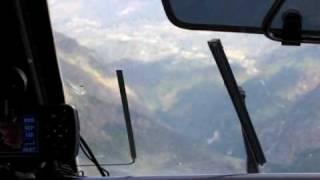 Landing at Lukla, Nepal airport