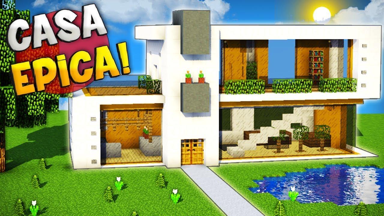 Minecraft como hacer una casa super moderna grande y - Como limpiar una casa ...