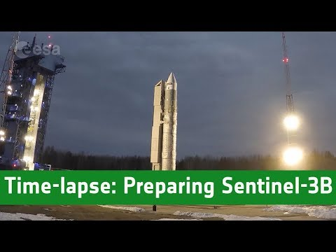 Time-lapse: Preparing Sentinel-3B for liftoff