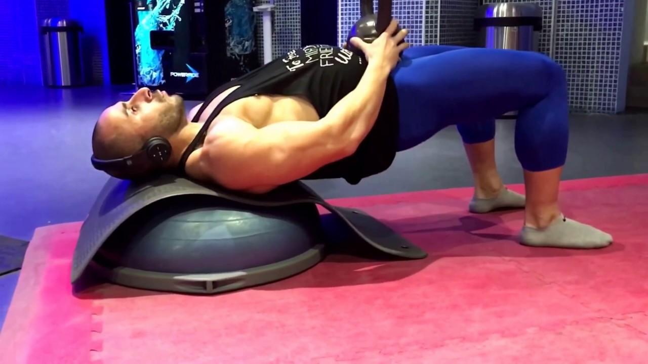 Bosu Ball Hip Thrusts - YouTube