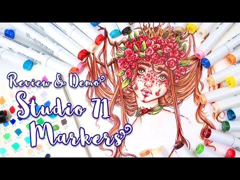 STUDIO 71 MARKERS - COPIC ALTERNATIVE! - Review & Demo! - MissKerrieJ