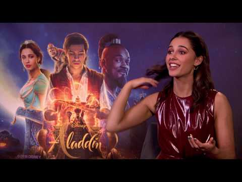 Naomi Scott full Interview ALADDIN - new DISNEY movie - best moment - Bloopers