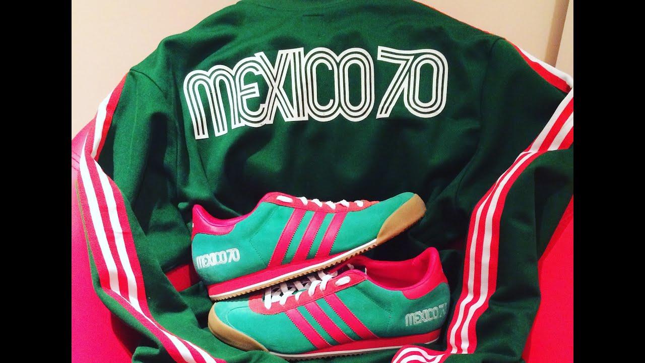 hogar recompensa deberes  Adidas Kick 'Mexico 70' (up close & on foot) - YouTube