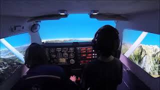 Easy home cockpit simulator Cessna 182 RG : Flight over the Alps FSX (Full HD 1080p)