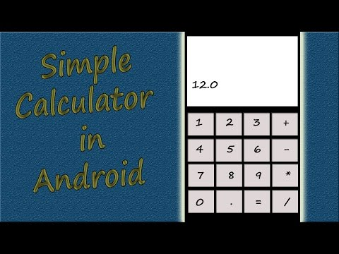 How to develop calculator app in android studio