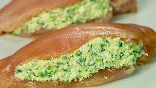 Элементарно, но вкуууууусно! Тающее во рту куриное филе с творогом и зеленью. | Appetitno.TV