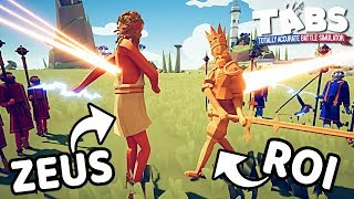 LE COMBAT ULTIME : ZEUS VS ROI ! | TOTALLY ACCURATE BATTLE SIMULATOR FR