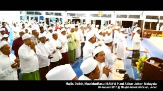 Majlis Dzikir, MaulidurRasul SAW & Haul Akbar Johor, Malaysia