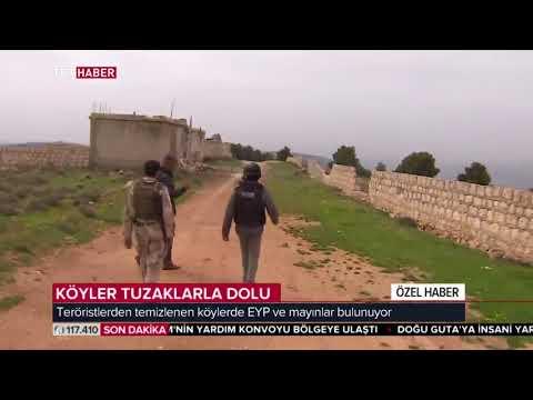 Temizlenen köylerdeki patlayıcı ve tuzaklar görüntülendi