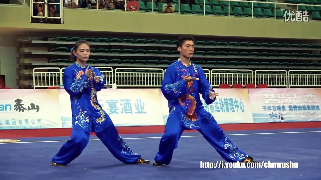 2016 China National Wushu Championship - Mixed Doubles Taiji - 1st Place -  Guangdong
