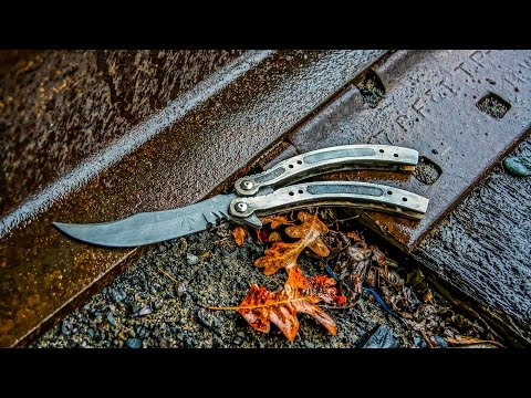 Making DAMASCUS CS:GO BUTTERFLY KNIFE Part 1