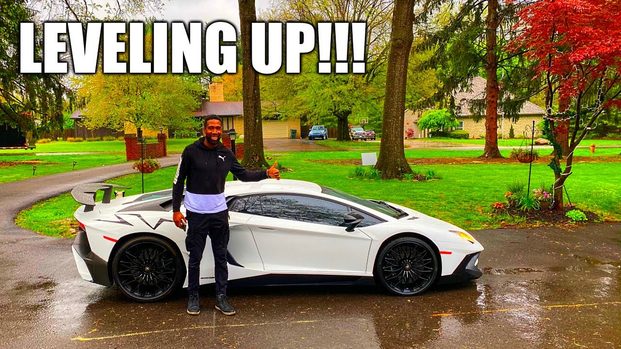 MY BROTHER GOT A NEW LAMBORGHINI AVENTADOR SV!!!