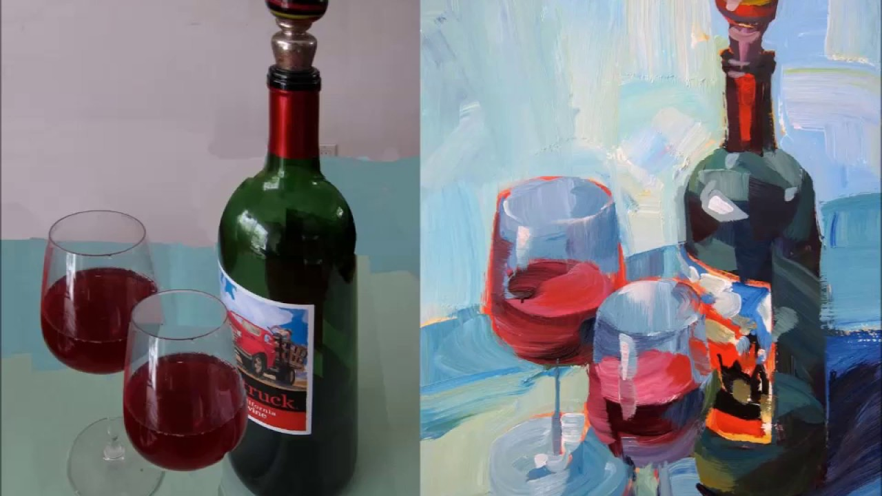 Expressive acrylic painting with patti mollica lesson 1 for How to paint bottles with acrylic