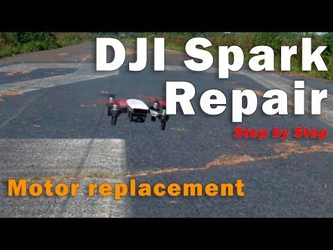 DJI Spark Repair with motor replacement