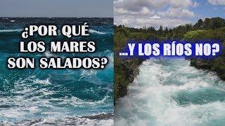 ¿Por qué el agua del mar es salada y la de los ríos dulce?