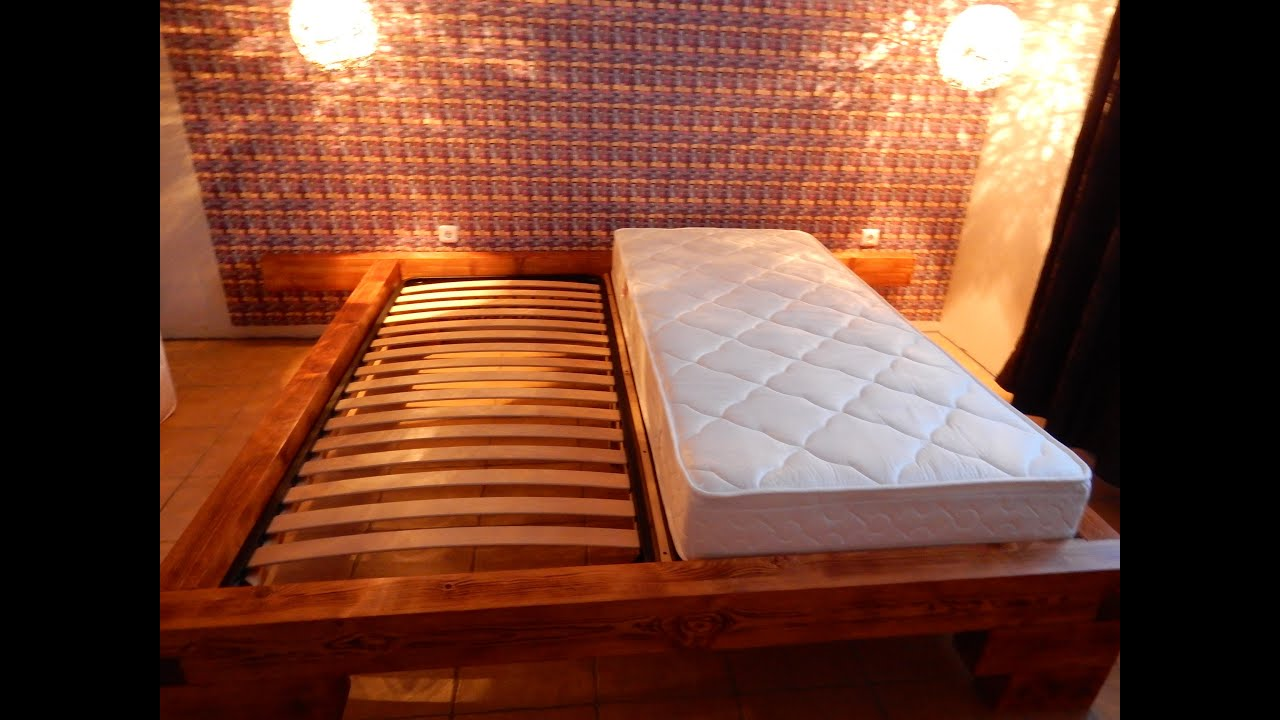 Holzbalkenbett selbstgebaut - YouTube