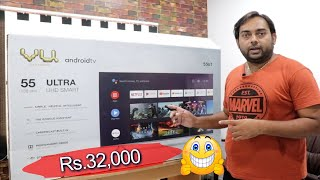 Vu 139 cm 55 inches 4K Ultra HD Smart Android LED TV 2020 Model for my home