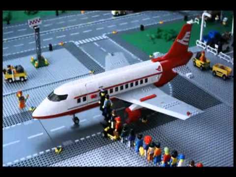 lego city avião de passageiros youtube