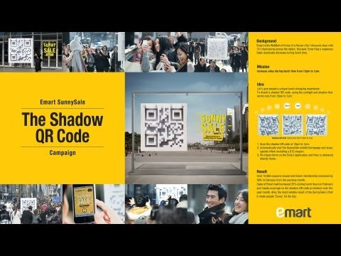 Emart Sunny Sale Campaign 3d Shadow Qr Code