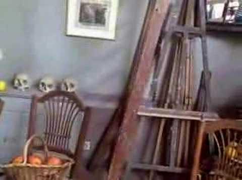 Visit to Paul Cezanne's Studio - inside the studio