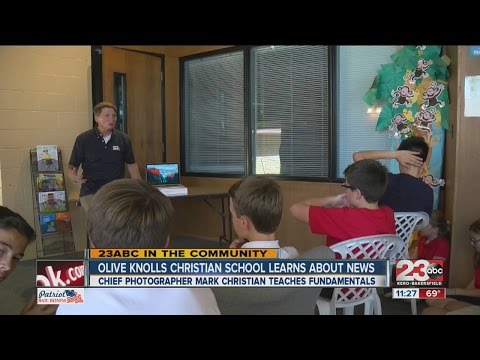 Olive Knolls Christian School learns about news