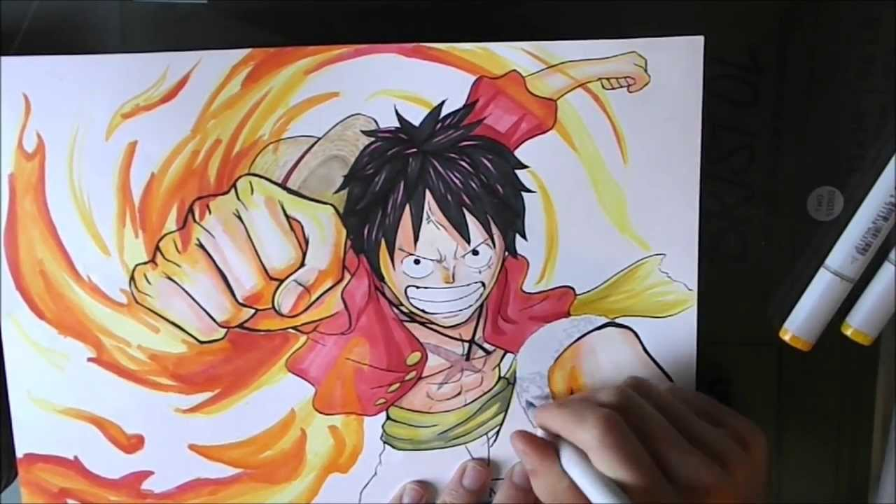 One piece how to draw luffy kaizoku musou 2 cover - Comment dessiner luffy ...