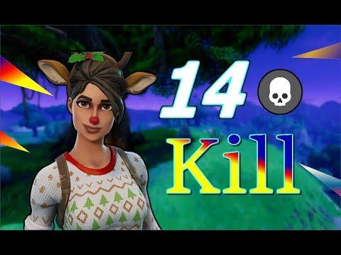 14 KILL ! Season 3 - ის ბოლო VIDEO ( Fortnite Battle Royale ) - ქართულად [REDZERG]