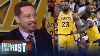 Chris Broussard thinks LeBron, Lakers can be dangerous in the West & more | NBA | FIRST THINGS FIRST